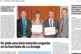 Entrega de Premios Cátedra Cepsa 2013 (Diario Sur)