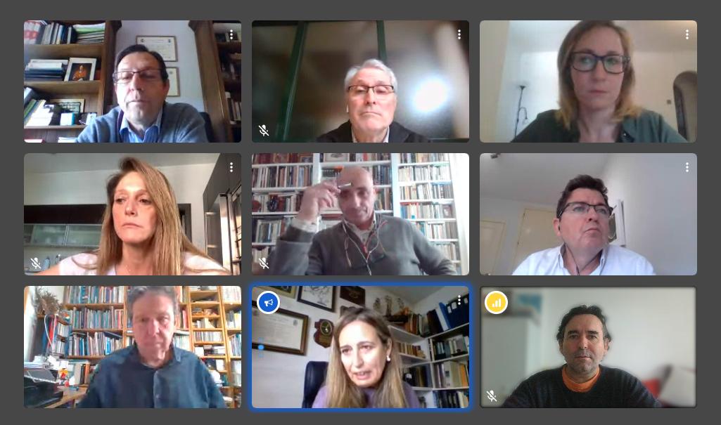 La Cátedra Fundación Cepsa de la Universidad de Cádiz celebra la primera comisión rectoral del año de forma virtual